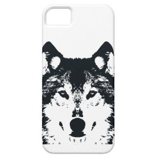 Illustration Black Wolf iPhone 5 Cover
