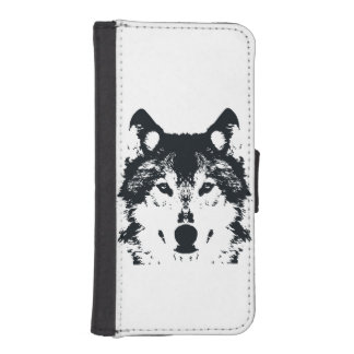 Illustration Black Wolf iPhone SE/5/5s Wallet Case