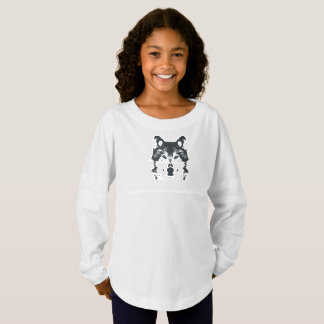 Illustration Black Wolf Jersey Shirt