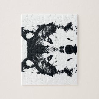 Illustration Black Wolf Jigsaw Puzzle