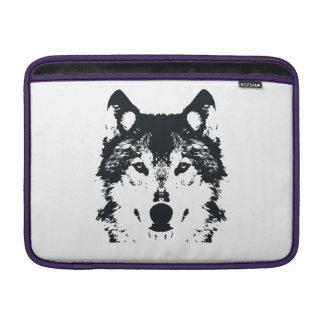 Illustration Black Wolf MacBook Sleeve