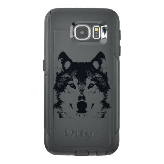 Illustration Black Wolf OtterBox Samsung Galaxy S6 Case