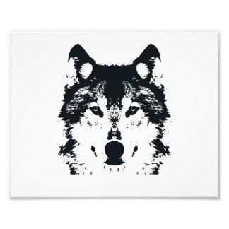 Illustration Black Wolf Photo Print