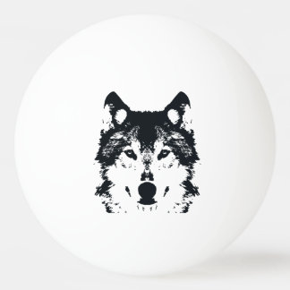 Illustration Black Wolf Ping Pong Ball