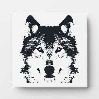 Illustration Black Wolf Plaque