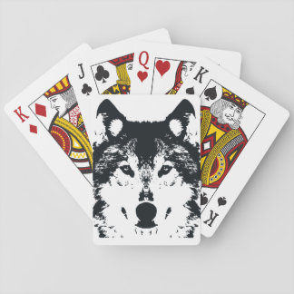 Illustration Black Wolf Playing Cards