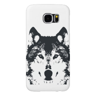 Illustration Black Wolf Samsung Galaxy S6 Cases