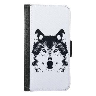 Illustration Black Wolf Samsung Galaxy S6 Wallet Case