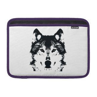 Illustration Black Wolf Sleeve For MacBook Air