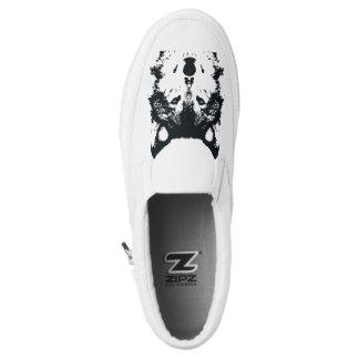 Illustration Black Wolf Slip On Shoes