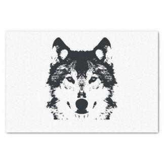 Illustration Black Wolf Tissue Paper