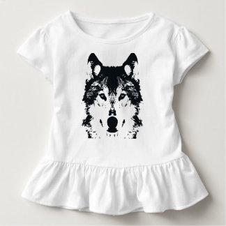 Illustration Black Wolf Toddler T-Shirt