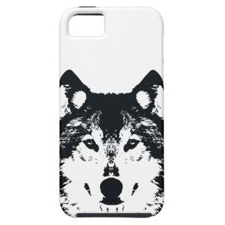Illustration Black Wolf Tough iPhone 5 Case