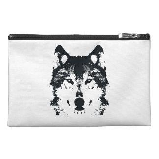 Illustration Black Wolf Travel Accessory Bag