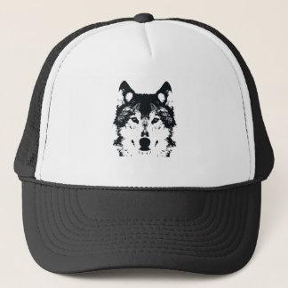 Illustration Black Wolf Trucker Hat