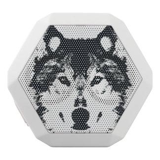Illustration Black Wolf White Bluetooth Speaker