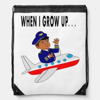 Illustration Boy Pilot Backpack