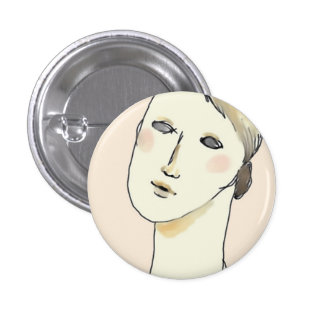 Illustration can batch. 3 cm round badge
