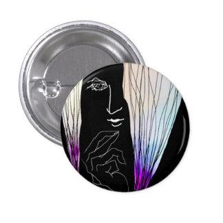Illustration can batch. 3 cm round badge