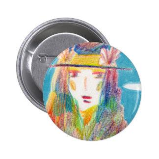 Illustration can batch. 6 cm round badge