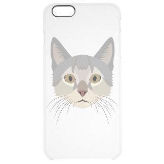 Illustration Cat Face Clear iPhone 6 Plus Case