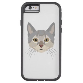 Illustration Cat Face Tough Xtreme iPhone 6 Case