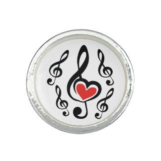 Illustration Clef Love Music