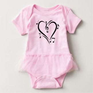 Illustration Clef Love Music Baby Bodysuit