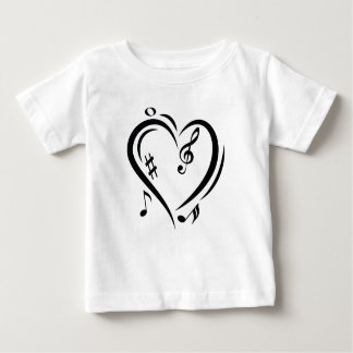 Illustration Clef Love Music Baby T-Shirt