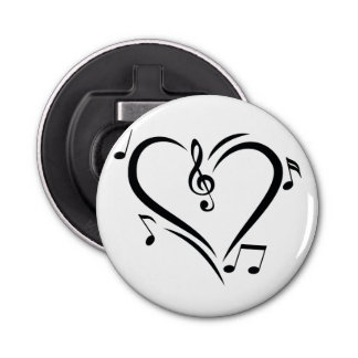 Illustration Clef Love Music Bottle Opener