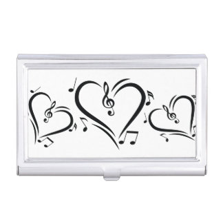Illustration Clef Love Music Business Card Cases
