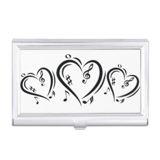 Illustration Clef Love Music Business Card Holders