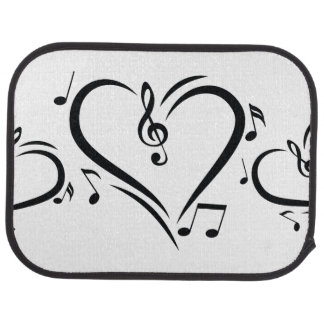 Illustration Clef Love Music Car Mat