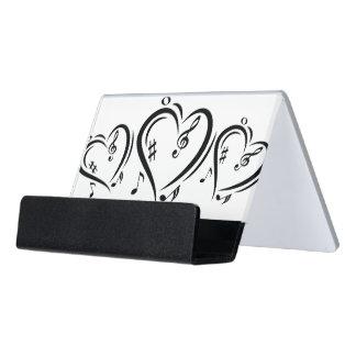 Illustration Clef Love Music Desk Business Card Holder
