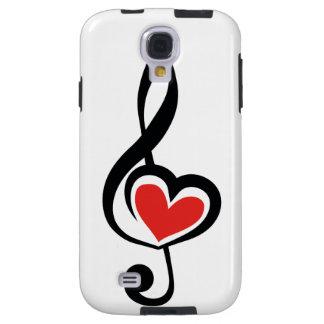 Illustration Clef Love Music Galaxy S4 Case