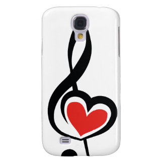 Illustration Clef Love Music Galaxy S4 Cases