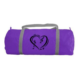 Illustration Clef Love Music Gym Bag