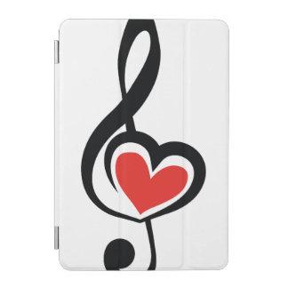 Illustration Clef Love Music iPad Mini Cover
