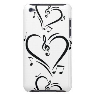 Illustration Clef Love Music iPod Case-Mate Case