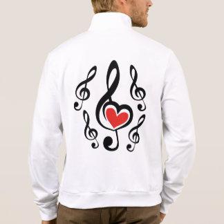 Illustration Clef Love Music Jacket