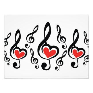 Illustration Clef Love Music Photo Print