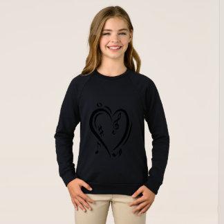 Illustration Clef Love Music Sweatshirt