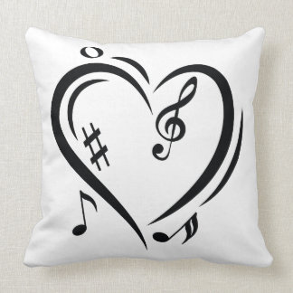 Illustration Clef Love Music Throw Pillow
