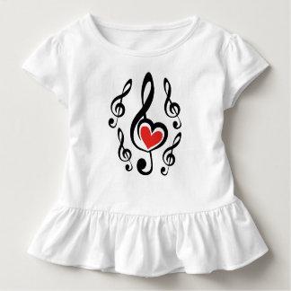 Illustration Clef Love Music Toddler T-Shirt