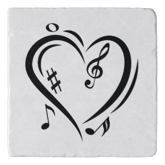 Illustration Clef Love Music Trivet