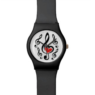 Illustration Clef Love Music Watches
