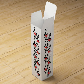 Illustration Clef Love Music Wine Bottle Box