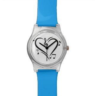 Illustration Clef Love Music Wrist Watch