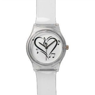 Illustration Clef Love Music Wristwatch