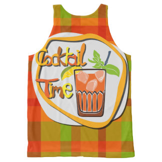 "Illustration Cocktail with fruit ""Cocktail Time"" All-Over Print Tank Top"